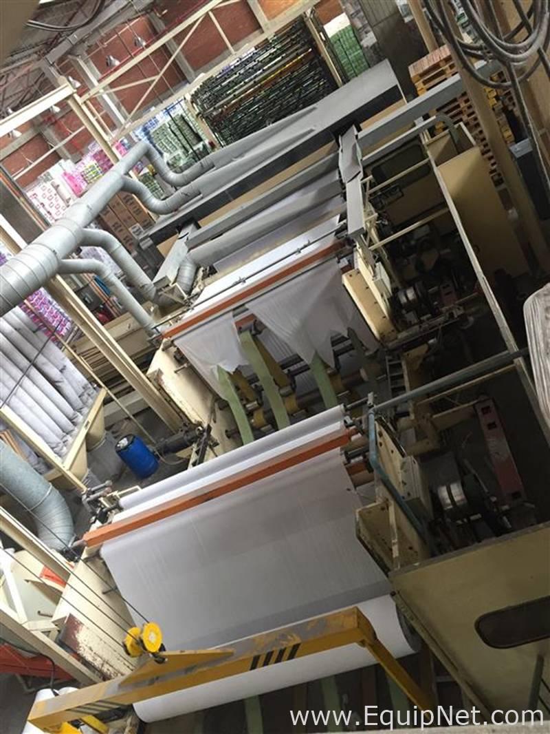 Línea completa para la fabricación y envasado de rollos de papel higiénico