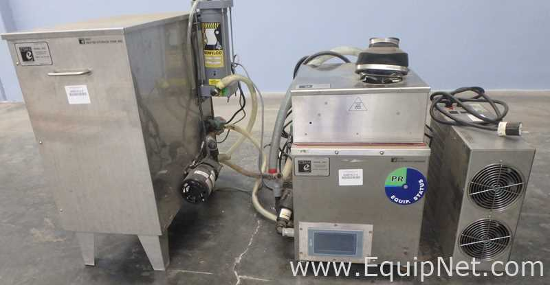 Sistema de limpieza ultrasónica ESMA Inc. E700 con tanque de almacenamiento calentado E997 30Gal