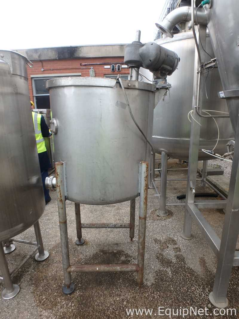 500 Liter Single Wall Stainless Steel Mixing Tank