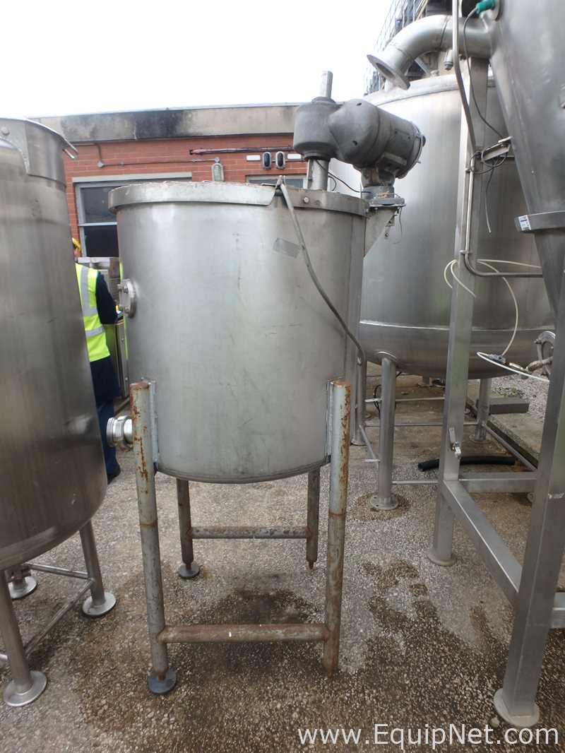 Tanque de mezcla de acero inoxidable de pared simple 500 Litros