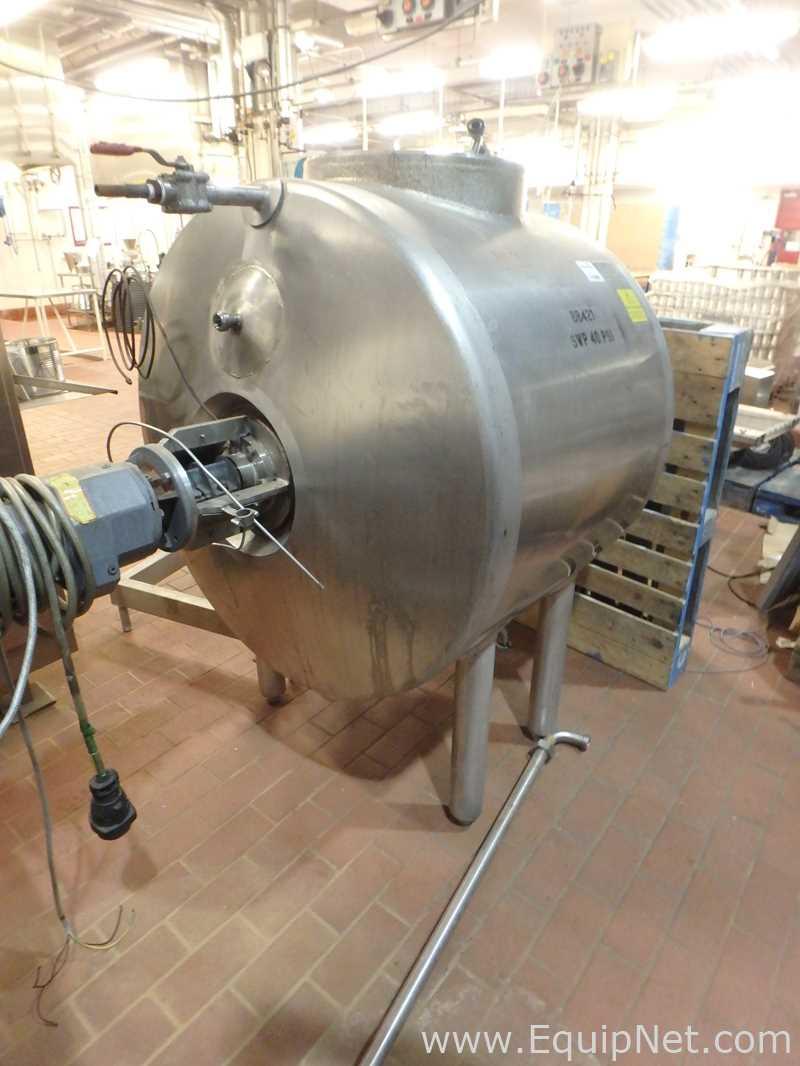 Alpha Laval 600 Liter Single Wall Horizontal Mix Tank