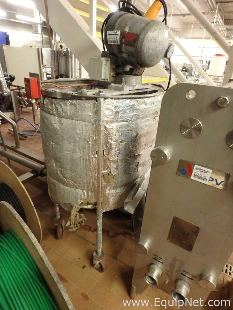Tanque de mezcla de acero inoxidable de pared simple 300 Litros