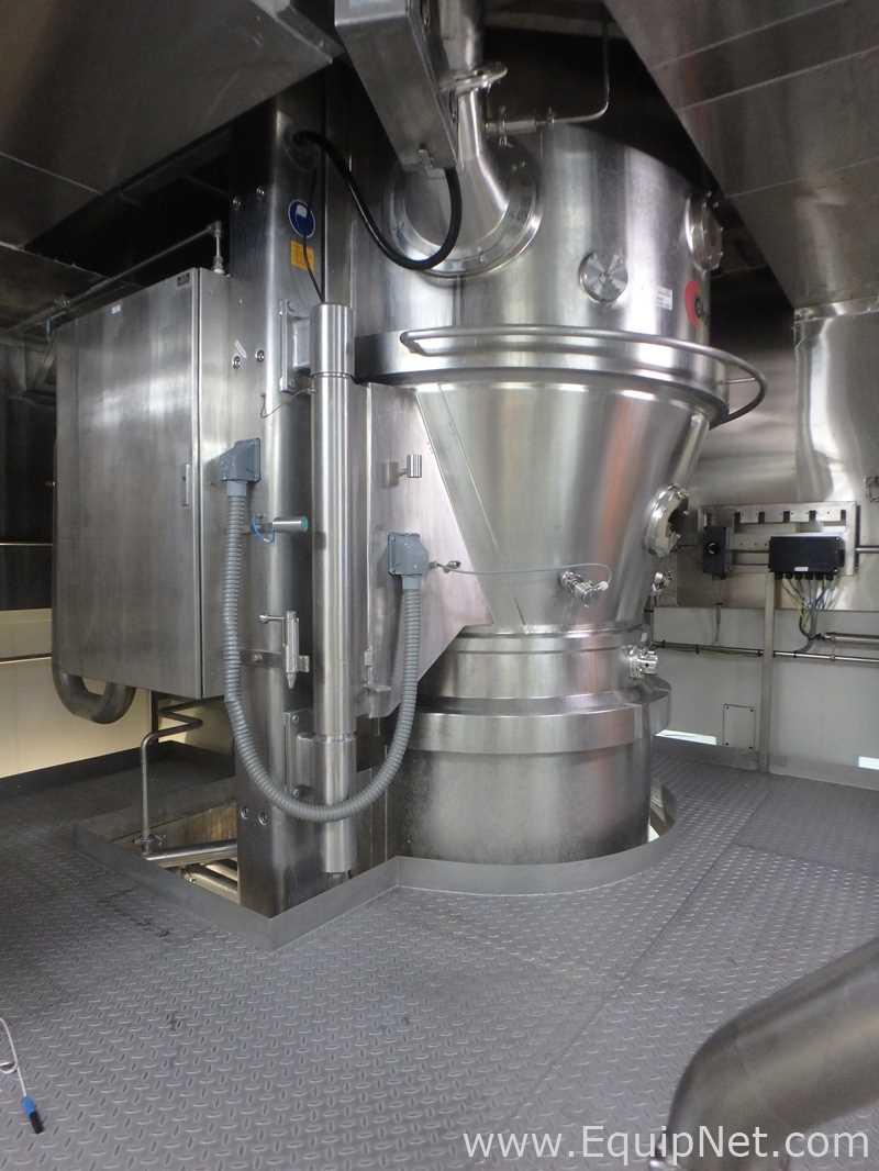 Glatt WSG Pro-300 Top Loaded - Conjunto de secador de lecho fluidizado de descarga inferior