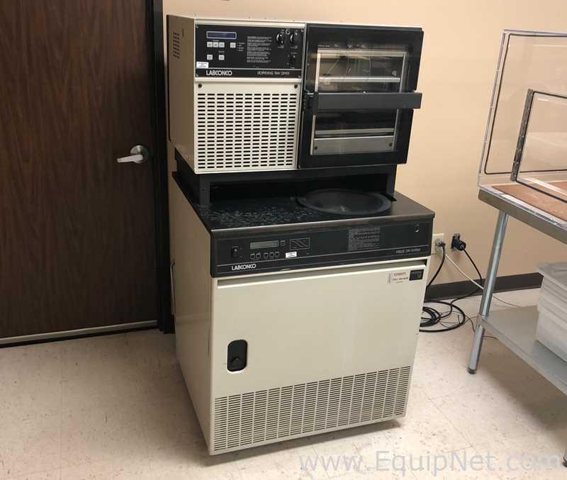 Sistema de liofilização do console Labconco FreeZone de 12 litros com secador de bandeja com tampa 77590-10 C; 77540-10