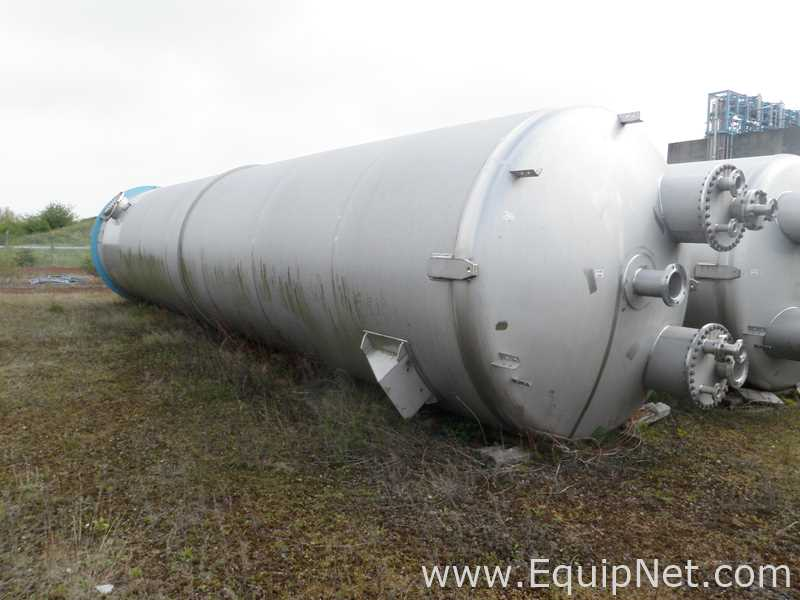 Unbenutztes Pontifex 100 Kubikmeter Fassungsvermögen 316L Edelstahl Vertikales Empfangsgefäß ohne Ummantelung