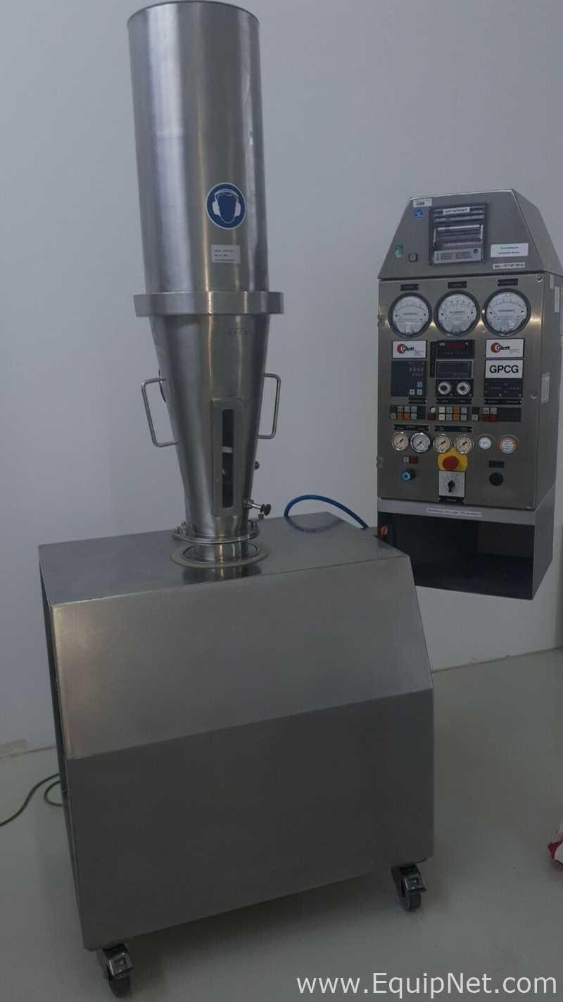 Secador de lecho fluido Glatt GPCG 1