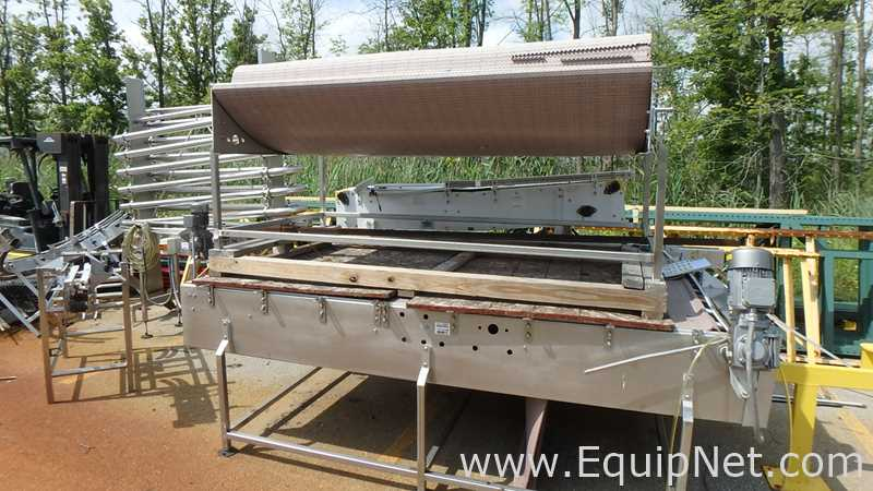 Lot of two Accumulation Conveyors With Matt Top Chains