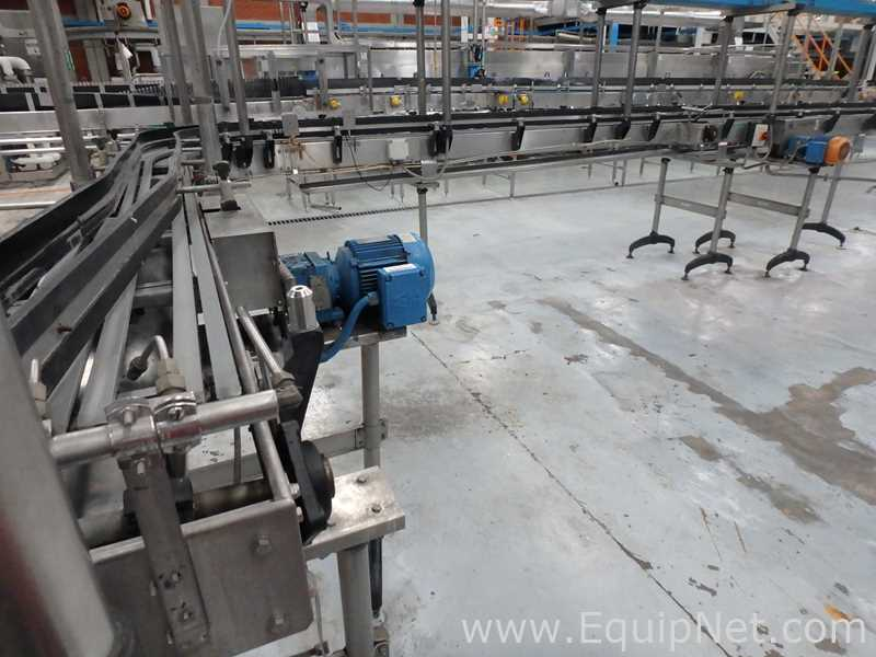 Stainless Steel Conveyor L Shaped with Plastic Slats