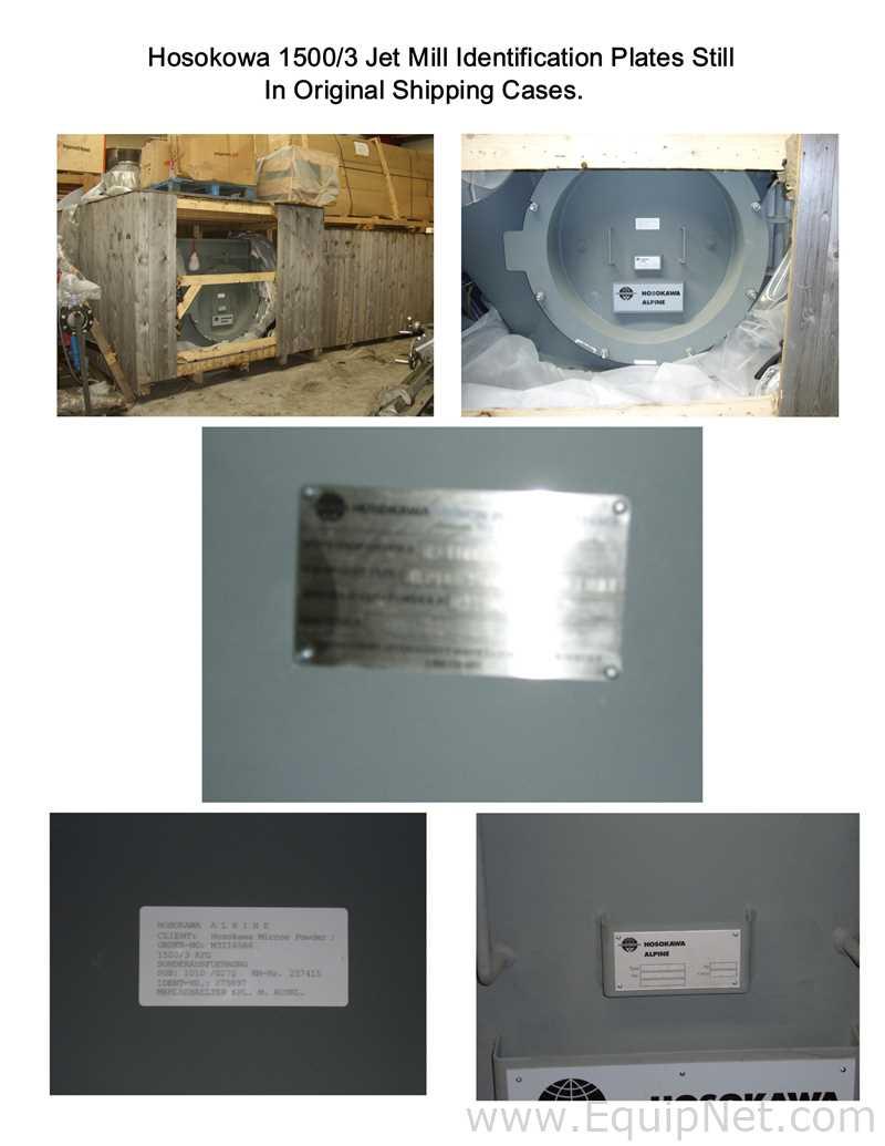 Hosokawa MAF556 Hosokawa Alpine 1500 AFG Jet Mill Miscellaneous Mill