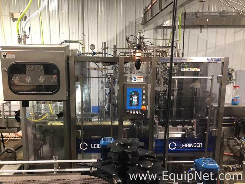 Leibinger Multima LC Canning Machine, configurada para onças de 12 e 16, Seamer e despaletizador