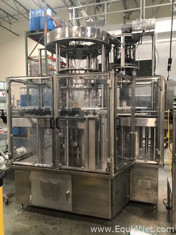 US Bottlers Machinery Company VIP-8-71825 Filling and Capping Bottle Monoblock With 8 Nozzles
