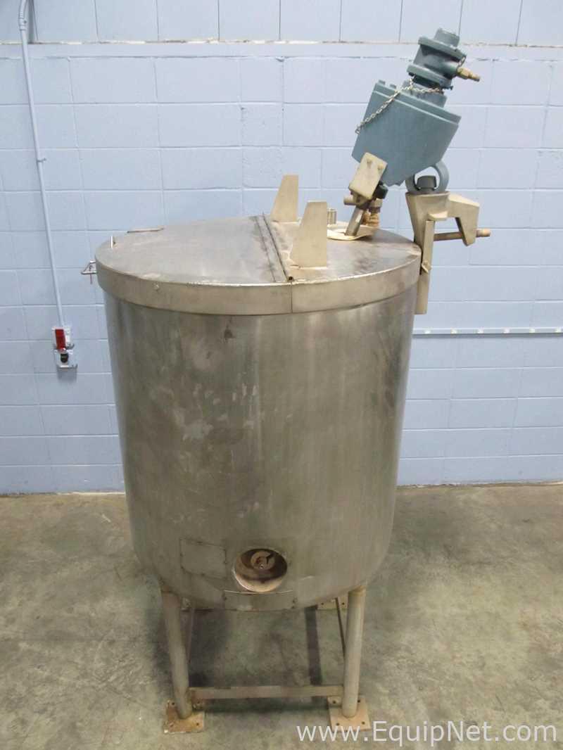 Tanque de mezcla con camisa de acero inoxidable de 200 galones con mezclador montado en la parte superior