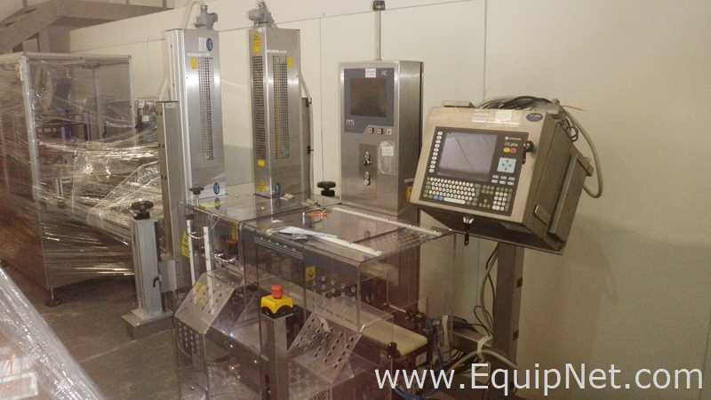 OCS HC Checkweigher and combined twin Domino DSL Plus Laser Printing System