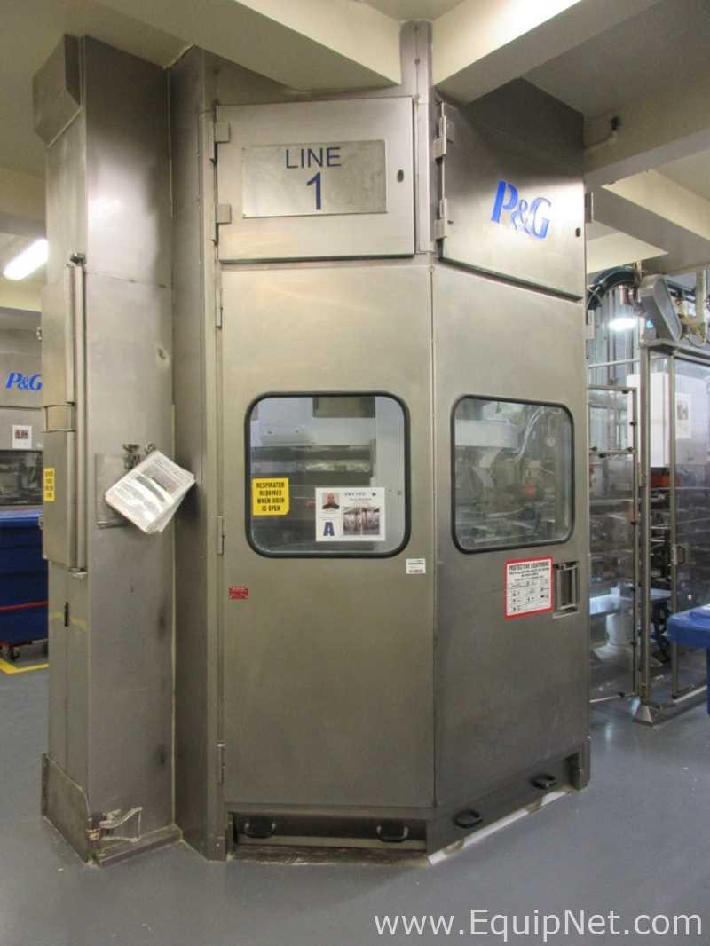 Llenadora volumétrica de polvo de cartón de 8 cabezas AUO de Pneumatic Scale Corporation