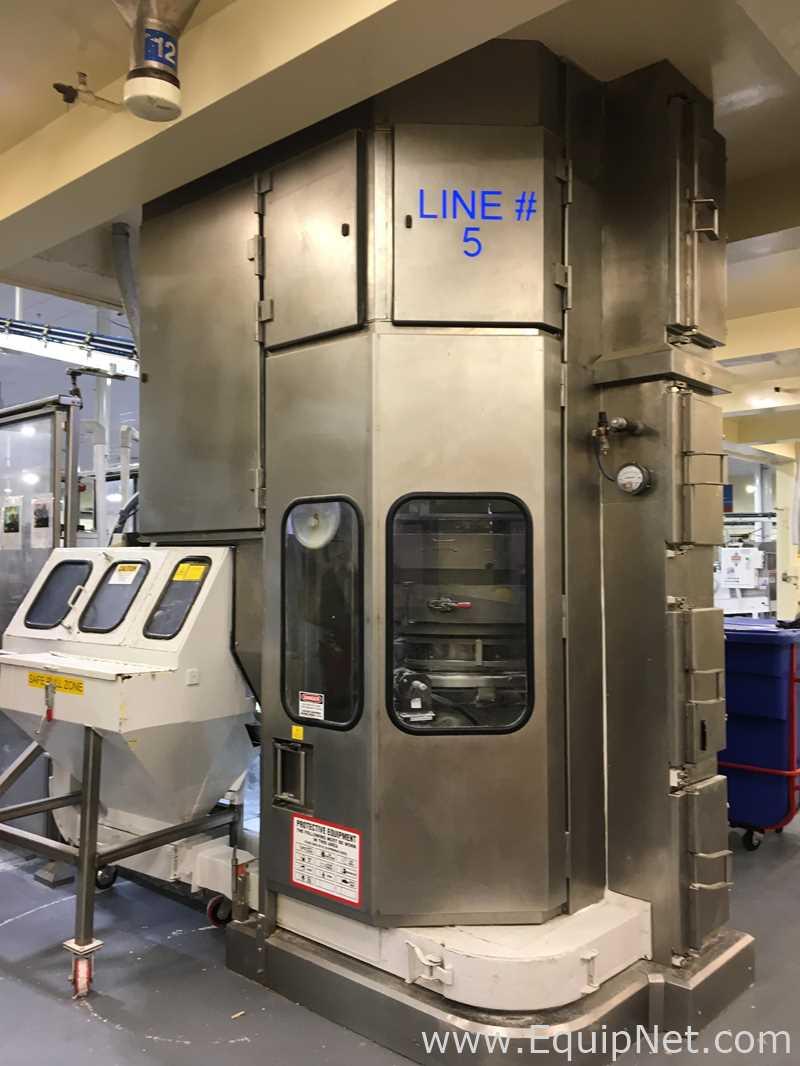 Llenadora volumétrica de polvo de cartón de 12 cabezas Pneumatic Scale Corporation DK
