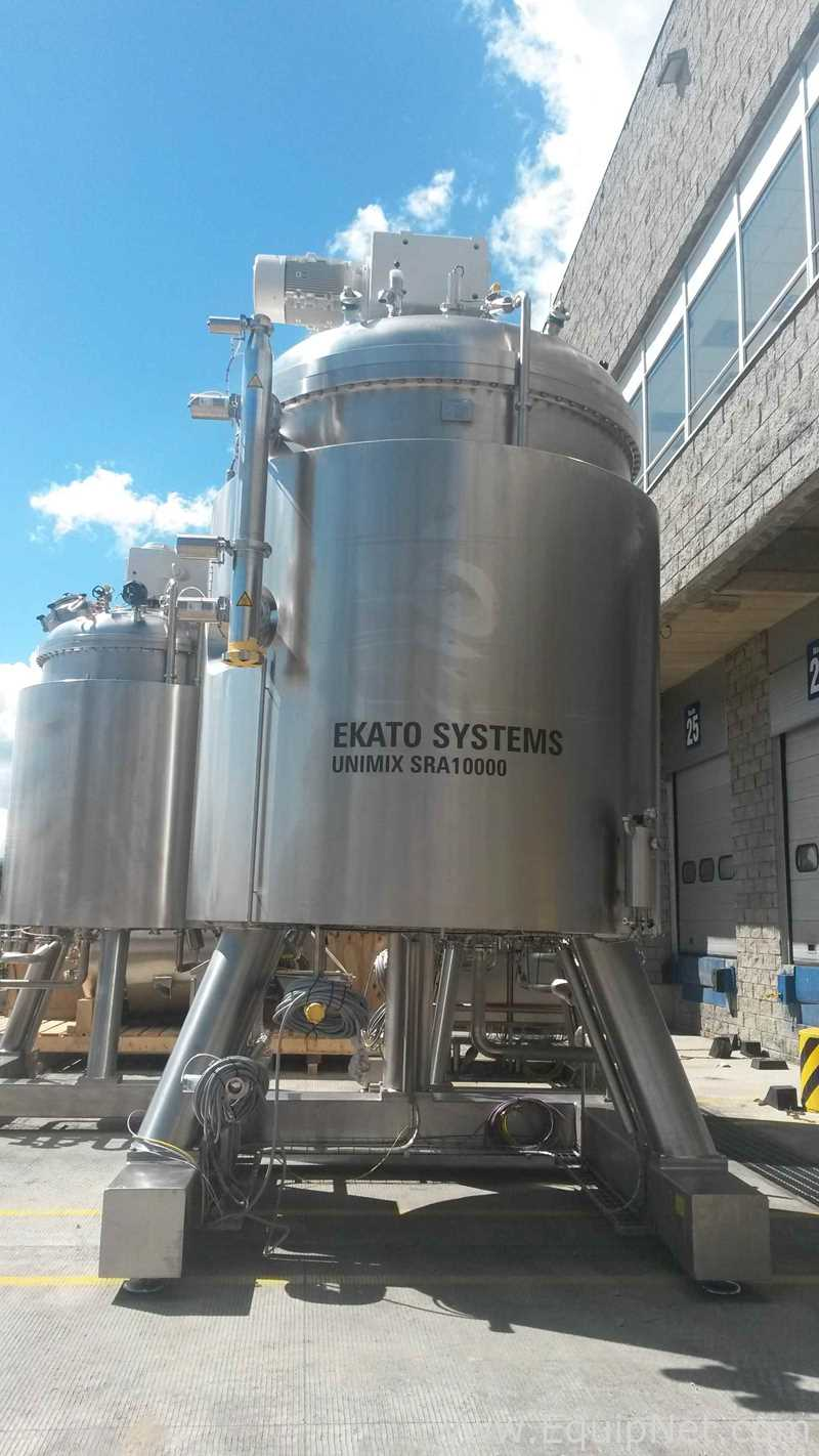 Recipiente de mezcla de acero inoxidable Ekato Unimix SRA de 10,000 litros sin usar con homogeneización