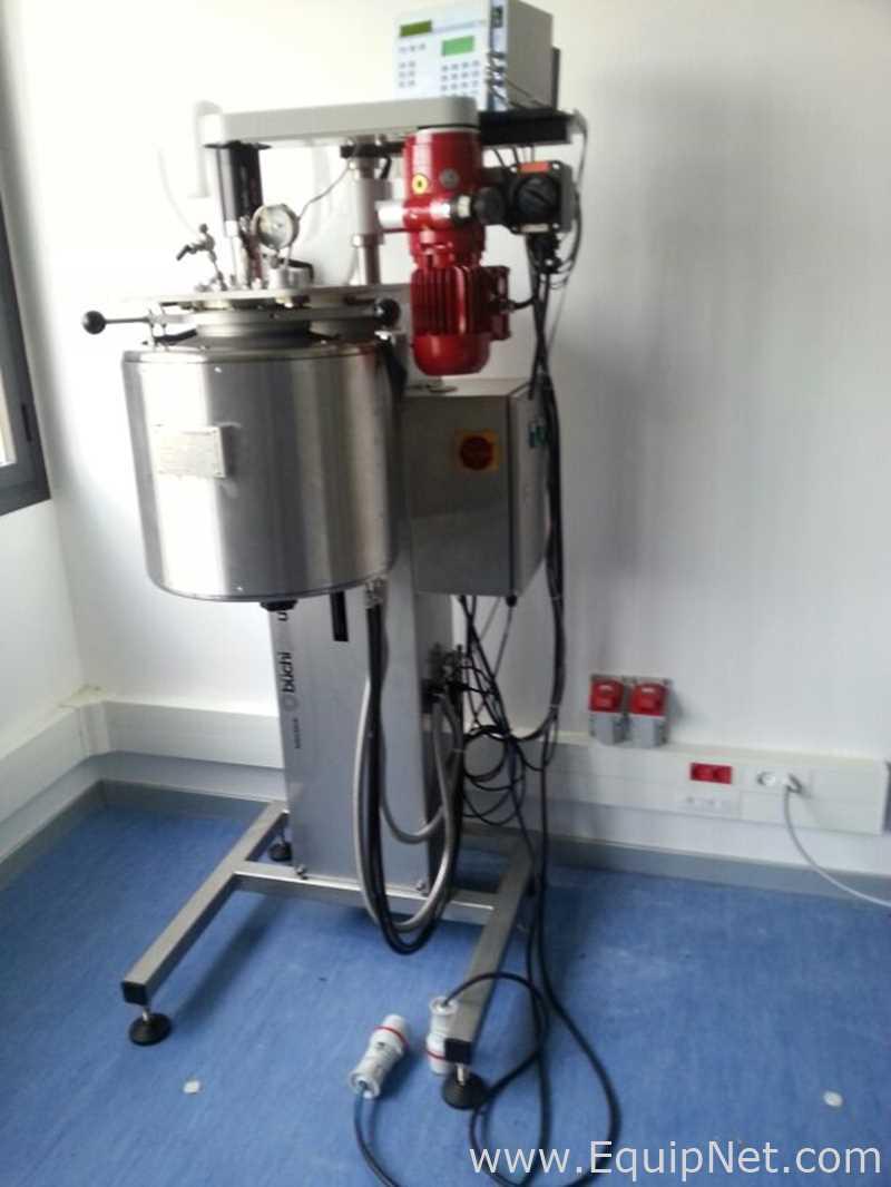 Reator vertical agitado de kiloclave tipo 3 Buchi Glas Uster