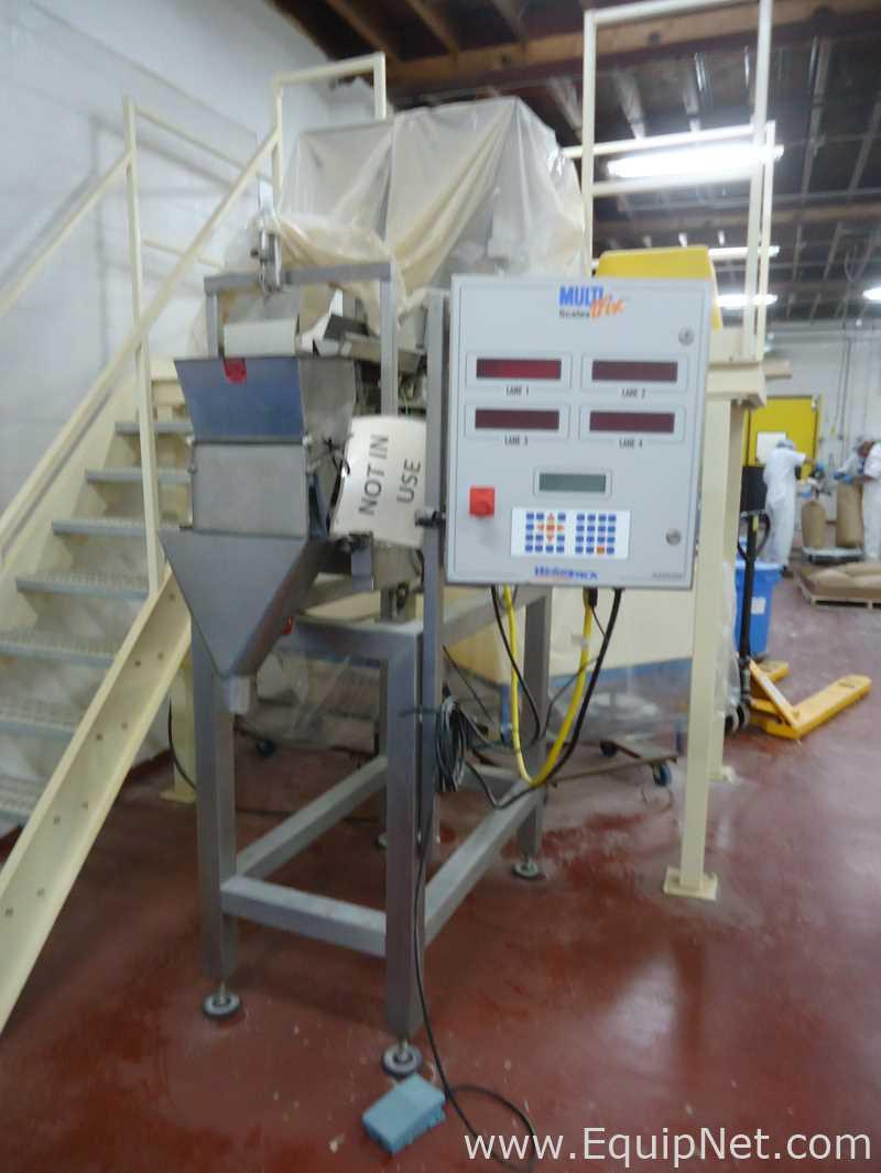 Llenadora vertical lavable WeighPack Systems Inc. V-9 SL TP con básculas MultiTrix