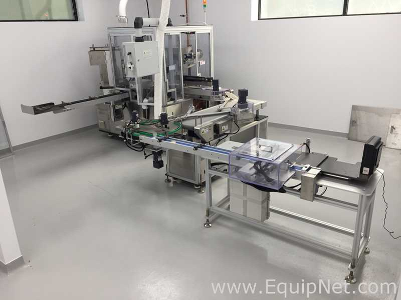 Servo llenador Woojung Tech Zpress-8D para Godets rellenos de polvo prensado - Cosméticos