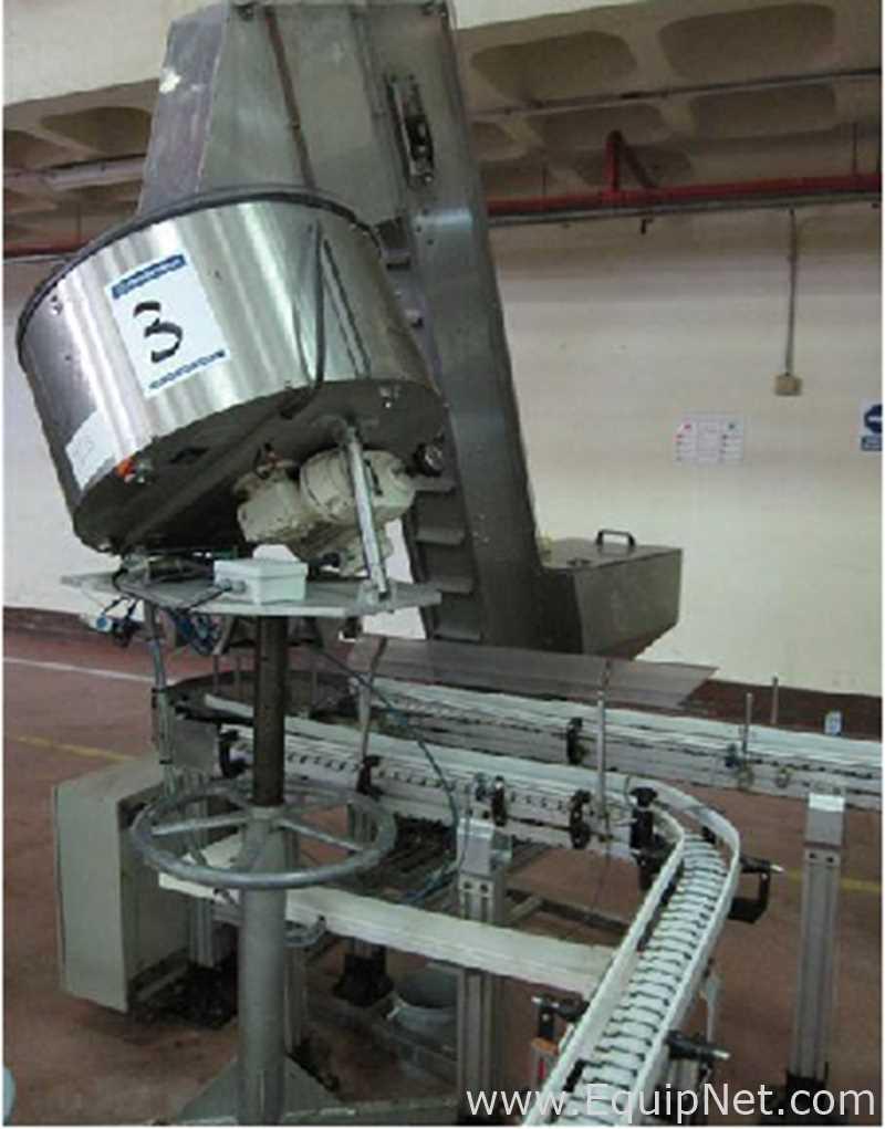 Alimentador vibratorio de tapas Máquina tapadora giratoria de 6 pliegues, soldador en línea de 2x 5 pliegues