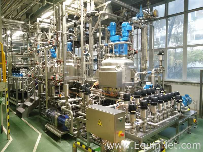 GEA 500 Liters Core Design Reactor PCL with CIP Skid