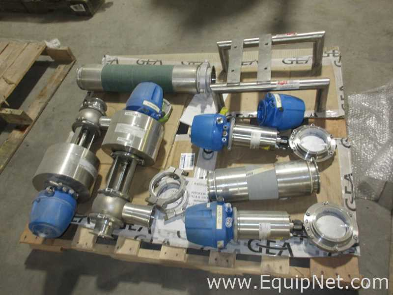 One Skid Of Miscellaneous GEA Sanitary Control Valves