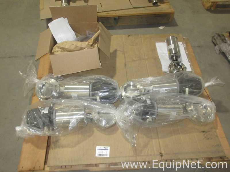 One Lot Of Miscellaneous GEA Sanitary Control Valves