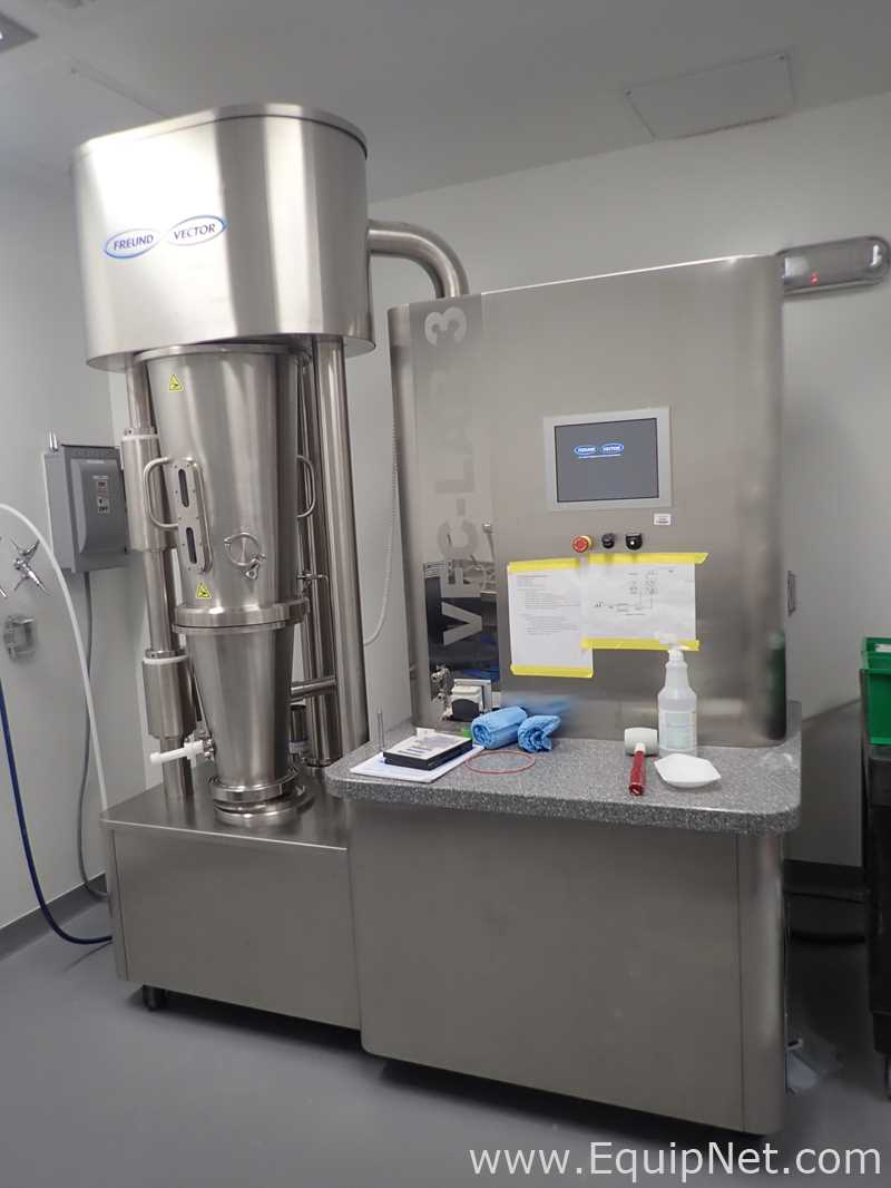 Secador de lecho fluidizado Freund Vector VFC-Lab 3
