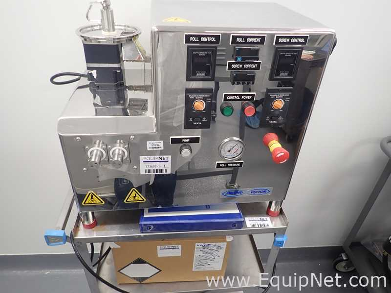 Compactador de micro rodillos Freund Vector Corporation TFC-Lab