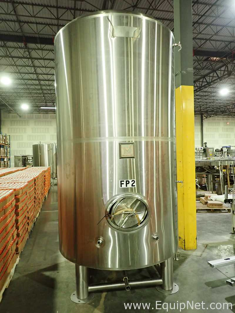 Markes Design and  Metalworks 60 Barrel, 1800 Gallon Capacity Stainless Steel Jacketed Tank