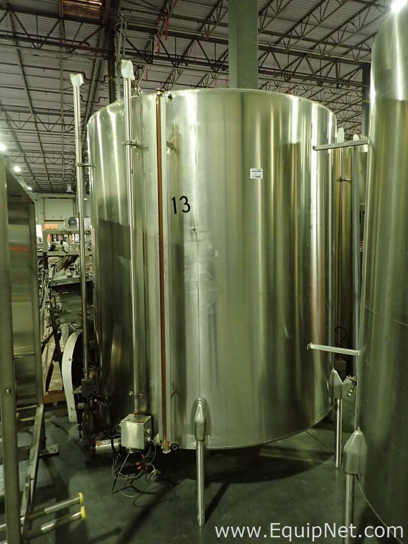 Crepaco Tanque de aço inoxidável de aproximadamente 1500 galões 13