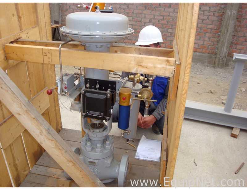 Válvula Becker ANSI 3 de 900 pulgadas con ajuste de bajo ruido de una etapa, actuador Masoneilan, gas para abrir s