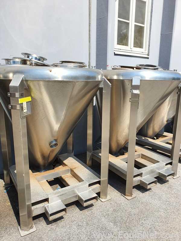 7 x contenedores de almacenamiento de acero inoxidable CORA